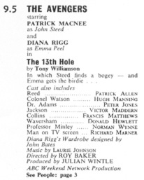TV World listing for The 13th Hole.