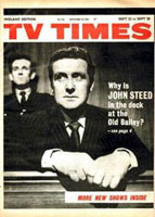 TV Times front cover featuring Patrick Macnee.