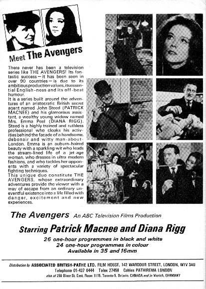 The Avengers - Seasons Four and Five Sale Brochure - Back