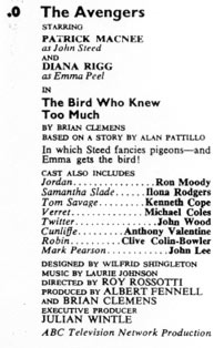 TV Times listing for The Bird Who Knew Too Much.