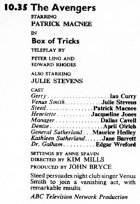 TV Times listing for Box of Tricks.