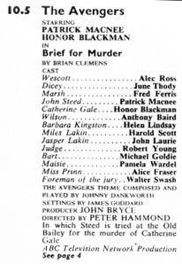 TV Times listing for Brief For Murder.