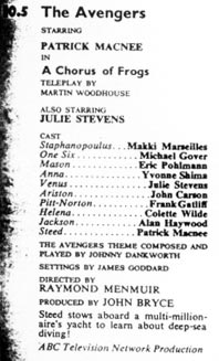 TV Times listing for A Chorus of Frogs.