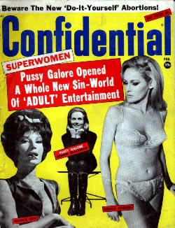 Cathy Gale on the cover of Confidential, March 1965