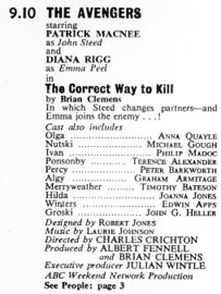 TV World listing for The Correct Way To Kill.