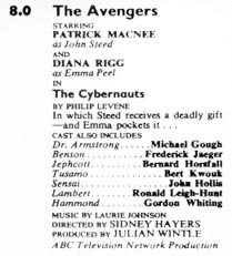 TV Times listing for The Cybernauts.