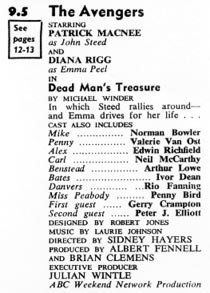 TV Times listing for Dead Man's Treasure.