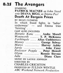 TV Times listing for Death At Bargain Prices.