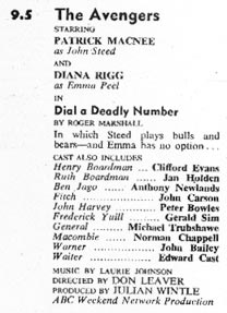 TV Times listing for Dial A Deadly Number.