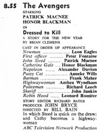 TV Times listing for Dressed To Kill
