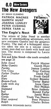 TV Times listing for The Eagle's Nest.