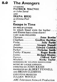 TV Times listing for Escape In Time.