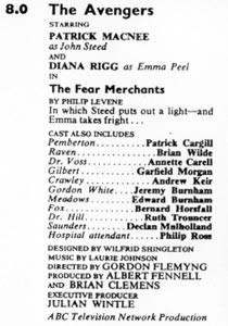 TV Times listing for The Fear Merchants.