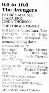 TV Times listing for The Forget-Me-Knot