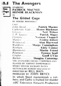 TV Times listing for The Gilded Cage