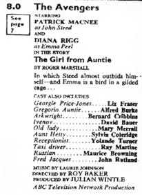 TV Times listing for The GIrl From Auntie.