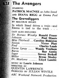 TV Times listing for The Gravediggers.
