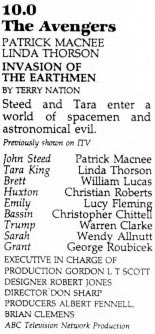 TV Times listing for Invasion Of The Earthmen.