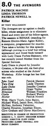TV Times listing for Killer.
