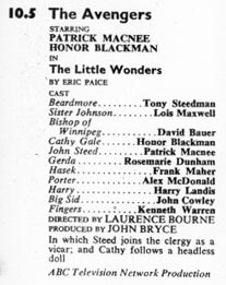 TV Times listing for The Little Wonders.