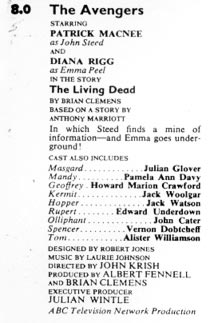 TV Times listing for The Living Dead.