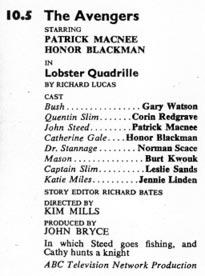 TV Times listing for Lobster Quadrille.