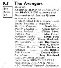 TV Times listing for The Man-Eater Of Surrey Green.