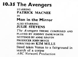 TV Times listing for The Man In The Mirror.