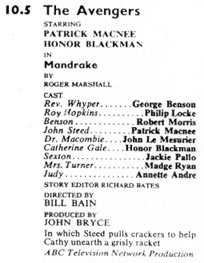TV Times listing for Mandrake