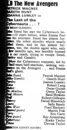 TV Times listing for The Last of the Cybernauts...?