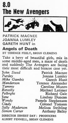 TV Times listing for Angels of Death.