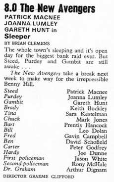 TV Times listing for Sleeper.
