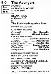 TV Times listing for The Positive Negative Man.