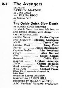 TV Times listing for The Quick-Quick-Slow Death.