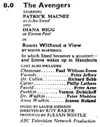 TV Times listing for Room Without A View.