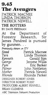 TV Times listing for The Rotters.