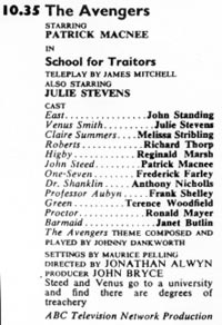 TV Times listing for School For Traitors