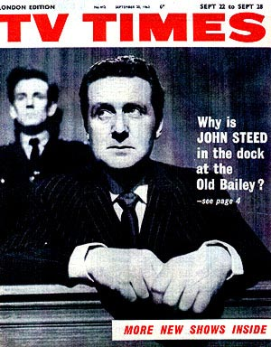 Patrick Macnee on the cover of TV Times, September 63.