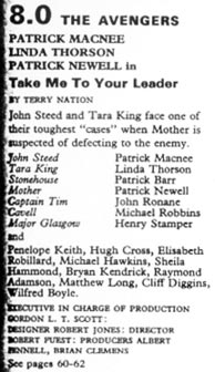 TV Times listing for Take Me To Your Leader.