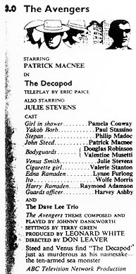TV Times listing for The Decapod