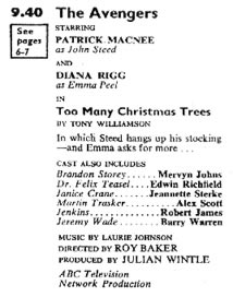 TV Times listing for Too Many Christmas Trees.