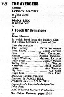TV World listing for A Touch Of Brimstone.