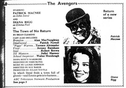 TV Times listing for The Town Of No Return.