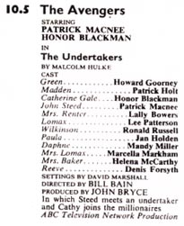 TV Times listing for The Undertakers.