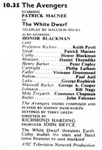 TV Times listing for The White Dwarf.