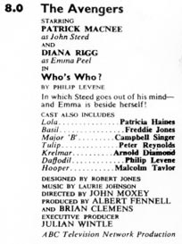 TV Times listing for Who's Who?