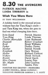 TV Times listing for Wish You Were Here.