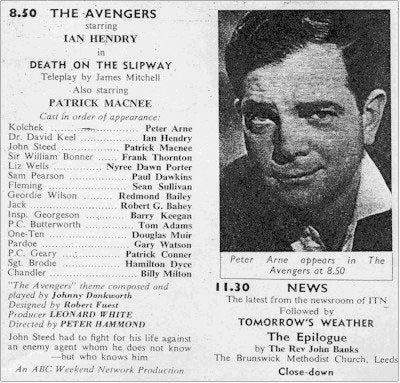 TV Times listing for Death On The Slipway.