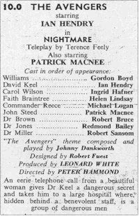 TV Times listing for Nightmare.