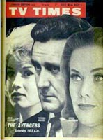 TV Times front cover featuring Julie Stevens, Patrick Macnee and Honor Blackman.
